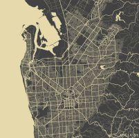 Adelaide by MapMapMaps