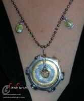 Gear Necklace by SkullGrrl