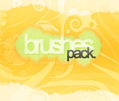 Floral brushes pack. by SparksOfLights