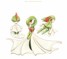 Ralts Gardevoir and Kirlia