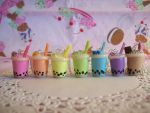 Bubble Tea Charm Necklaces by lessthan3chrissy