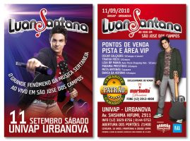 Luan Santana Flyer by LGRuffa