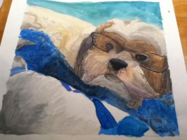 Watercolor Painting Finished by MarbleMyst