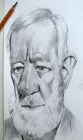 Alec Guinness caricature by Mandala87