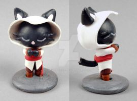 Gamercat: Assassin Figurine by SewDesuNe