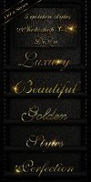 5 golden Photoshop styles by DiZa-74