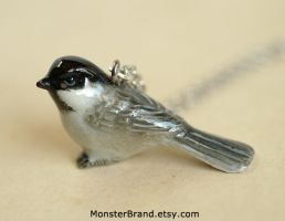 Chickadee Necklace by MonsterBrandCrafts