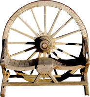 Wagon Wheel Bench PNG. by Alz-Stock-and-Art