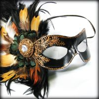 Marquise in Black and Gold v1 by pilgrimagedesign