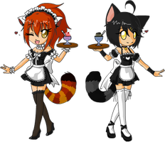 twin maids colab by diaboso