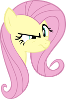 Fluttershy disapproves v2 by BucketHelm