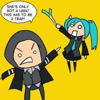 Alex vs. Hatsune Miku by Kaxen6