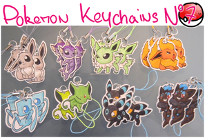 Pokemon Keychains 7 by Dragounette