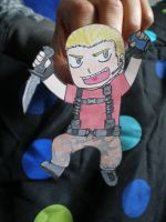Jack Krauser the paper doll by Luckyoctopus