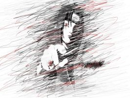 Itachi Scribble by 13deadman