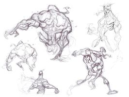 Venom Sketches 3 by spundman