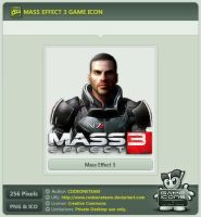 Mass Effect 3 Icon by CODEONETEAM