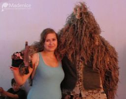 Lara and sniper in ghillie suit by Madenice