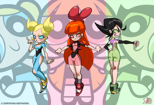 The Powerpuff Girls by zeoarts
