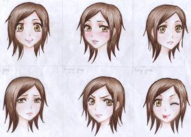 face expressions by Mari945