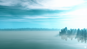 Misty Lake wallpaper by Vuenick