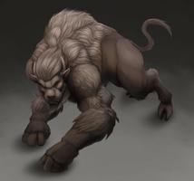 Humanoid Bison by cweinman