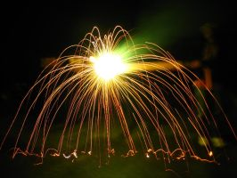 Firework Fountain on a Stick by weut