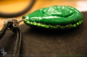 Earth Nation pendant side view by mon-mothma
