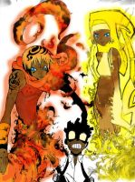 Soul Eater Color: Fire-Thunder by KageShadow10