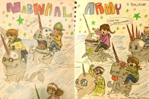 Narwhal Army by bhakri