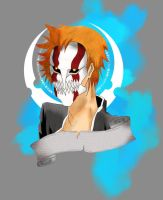 ichigo hollow mask color 2 by vamp1646