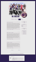 Blogspot template One Direction by MySensitiveHeart