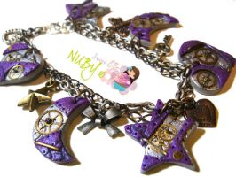 Purple Steampunk bracelet by colourful-blossom
