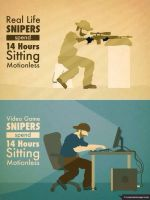 Real life and video game snipers by gamerma