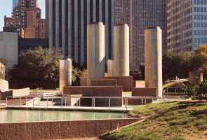 Wortham Fountains at Tranquility Park by Texas1964