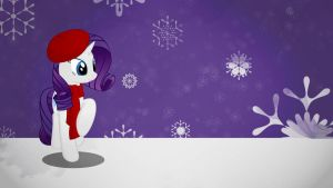 Rarity winter wallpaper (not so) minimalistic by Nidrax