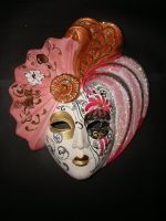 Stock: Pink Geisha Mask by FantasyFailure-Stock
