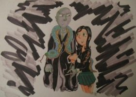 Voldy, Nagini, and Lera by LeraDraco69