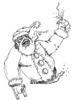 BrutalSanta BW by terencedeath