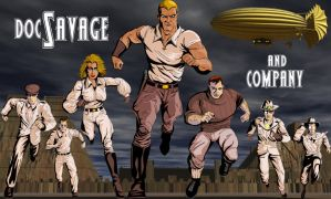 Doc Savage and Company by jaypiscopo