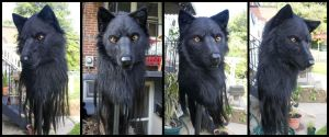Black Wolf Mask 4-View by Qarrezel