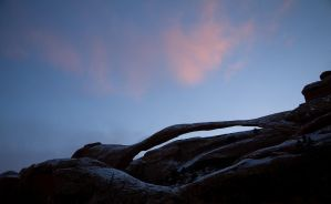 Landscape Arch at dusk by themobius