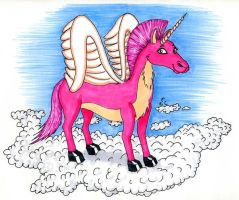 The Invisible Pink Unicorn by DJ-Erock