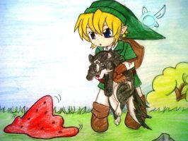Colored Link Chibi by blackorchid2007