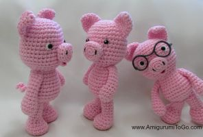 Crochet Pig Free Pattern and Video by sojala