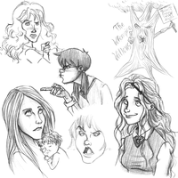 Harry Potter Doodles 5 by CrystallineColey
