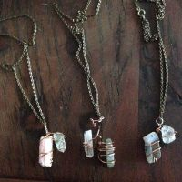 Wire Wrapped Crystals by FullMoonOverGeorgia