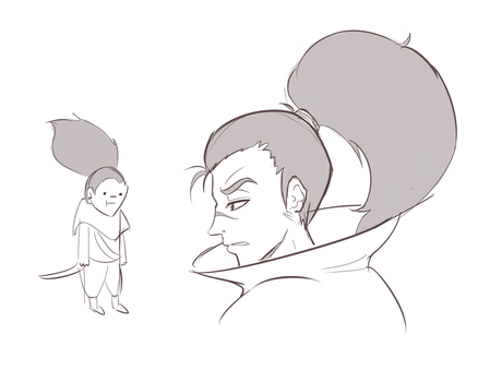 yasuo sketches by KittyConQueso