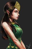 An elf girl. by victter-le-fou