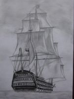 Ship in the sea by 09Pumba09